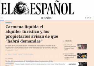 """Carmena liquida el alquiler turístico y los propietarios avisan de que """"habrá demandas"""""""