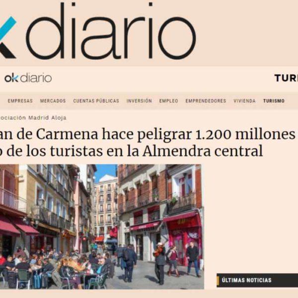 El plan de Carmena hace peligrar 1.200 millones de gasto de los turistas en la Almendra central