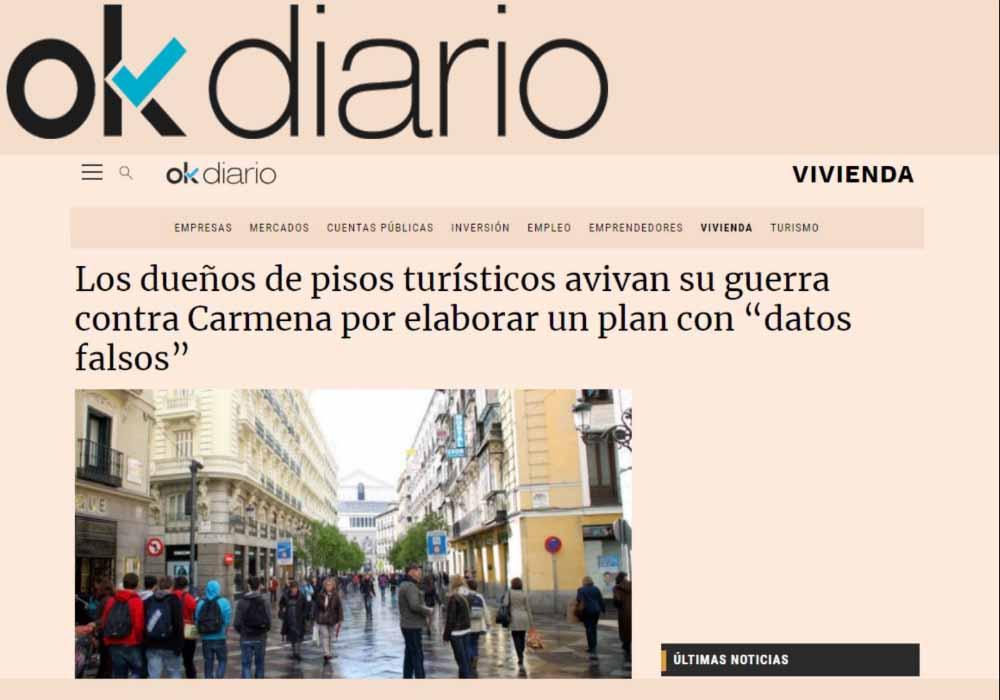"""Los dueños de pisos turísticos avivan su guerra contra Carmena por elaborar un plan con """"datos falsos"""""""