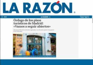 """Órdago de los pisos turísticos de Madrid: """"Vamos a seguir abiertos"""""""